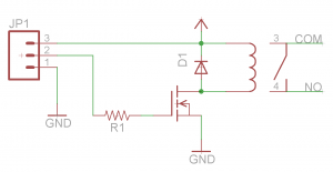 Schematic for the relay PCB.